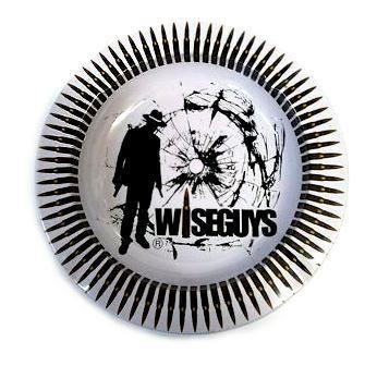 Wise Guys Design Metal Round Ashtray - Best Bongs And More