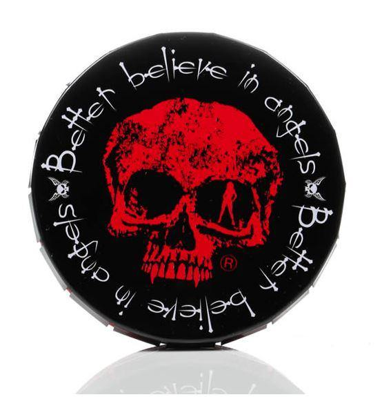 Metal Round Skull Stash Storage Tin - Best Bongs And More
