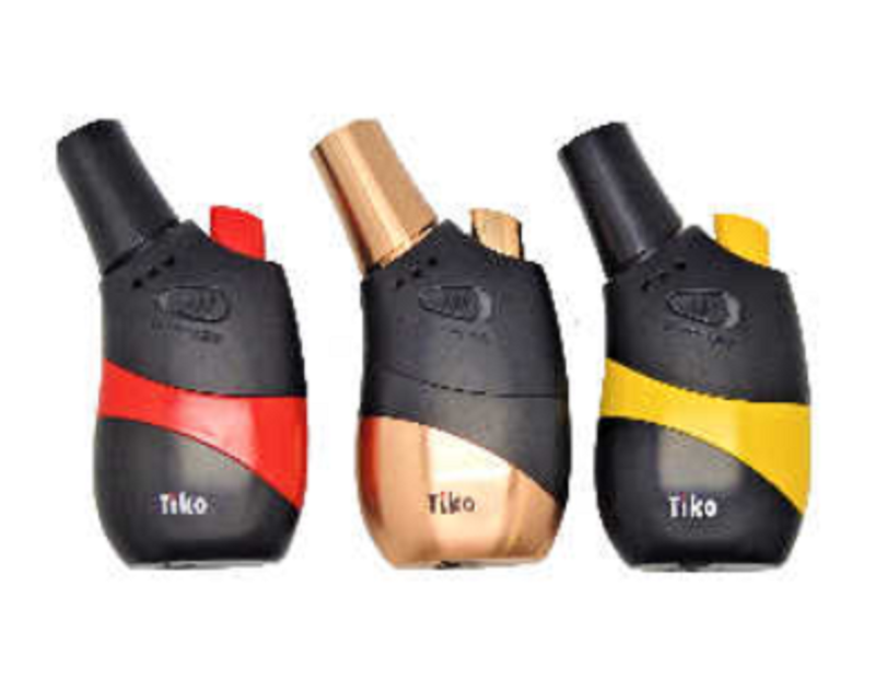 Tiko Black Single Blow Torch Refillable Jet Lighter - Best Bongs And More