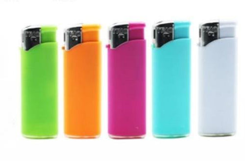Fluro Coloured Clicker Lighters Refillable 5 Pack - Best Bongs And More