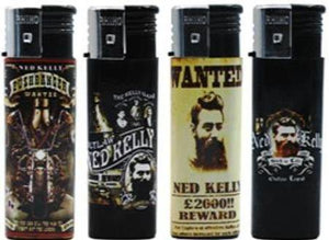 Ned Kelly Outlaw Legend Collectible Refillable Lighters 5 Pack - Best Bongs And More