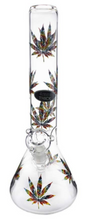 Load image into Gallery viewer, Stone Age Rasta Leaf Beaker Glass Bong 34cm