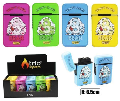 Don't Care Bear Design Refillable Jet Lighter - Best Bongs And More