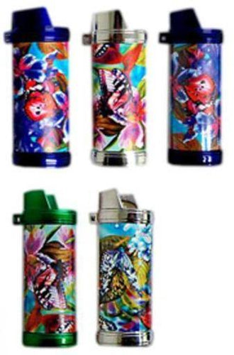 Funky Butterfly Lighter Case + Large BIC Lighter - Best Bongs And More