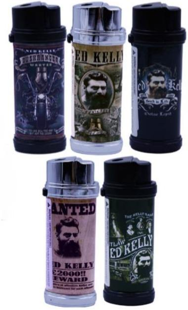 Ned Kelly Design Refillable Jet Lighters