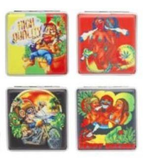 Rasta Designs Cigarette Hard Case Tobacco Storage - Best Bongs And More