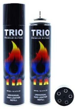 Trio Premium Butane Universal Gas Lighter Refill 11x Refined 300mL - Best Bongs And More