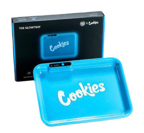 Cookies Glow In The Dark LED Rolling Tray - Best Bongs And More
