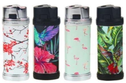Exotic Flower Design Refillable Jet Lighters - Best Bongs And More