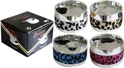 Leopard Design Deluxe Smokeless Metal Ashtray - Best Bongs And More