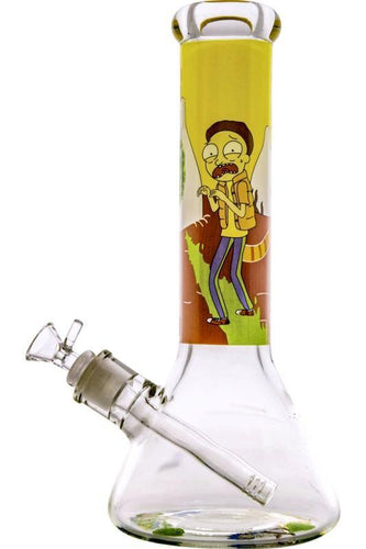 Stone Age Rick And Morty Beaker 9mm Extra Thick Glass Bong 30cm - Best Bongs And More