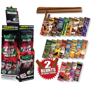 Juicy Jays Flavoured Double Blunt Wraps 2 Pack - Best Bongs And More