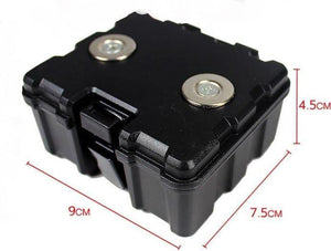 Black Magnetic Storage Box Hidden Safe Stash Compartment - Best Bongs And More