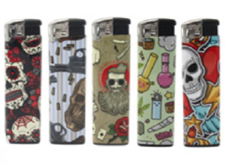 Rebel Design Clicker Lighters 5 Pack - Best Bongs And More