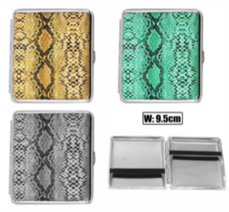 Snake Skin Designs Cigarette Hard Case Tobacco Storage - Best Bongs And More