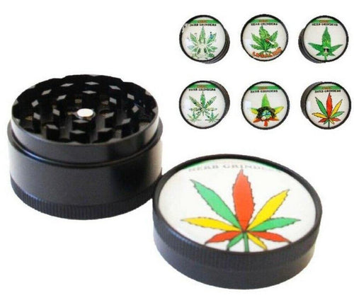 Leaf Designs 3 Layer Metal Grinder 50mm - Best Bongs And More