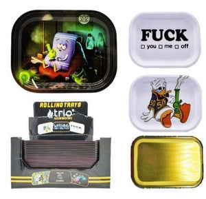 Metal Assorted Designs Rolling Trays - Best Bongs And More