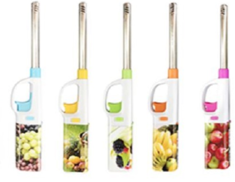 Fruit Design Ignition Rod BBQ Lighter Refillable 1-2 Pack - Best Bongs And More
