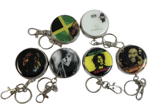 Bob Marley Designs Small Round Pocket Ashtray - Best Bongs And More