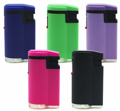 Fluro Coloured Rubber Jet Lighter Refillable - Best Bongs And More