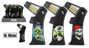 Premium Rocket Flame Skull Refillable Jet Lighter - Best Bongs And More