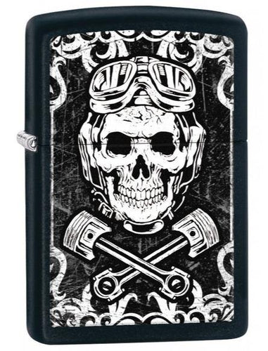 Genuine Zippo Skull & Wrenches Windproof Refillable Lighter - Best Bongs And More