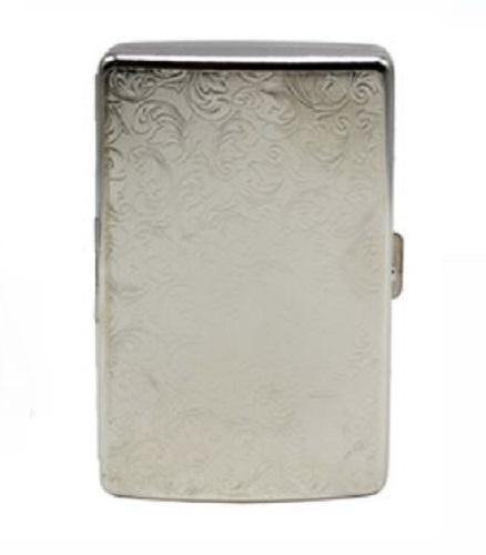 Silver Filagree Cigarette Hard Case - Best Bongs And More