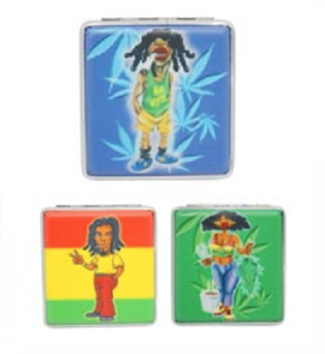 Assorted Rasta Designs Cigarette Hard Case Tobacco Storage