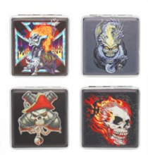 Load image into Gallery viewer, Assorted Skull Designs Cigarette Hard Case Tobacco Storage - Best Bongs And More