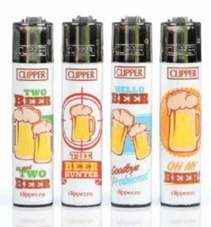 Clipper Large Beer Lighters Refillable 4 Pack - Best Bongs And More
