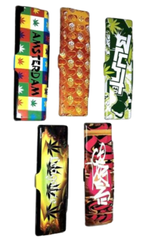 Jamaican Rolling Paper Metal Tin Case 110mm - Best Bongs And More