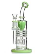 Load image into Gallery viewer, Mothership Recycler Percolator Glass Bong 24cm (Choose Colour)