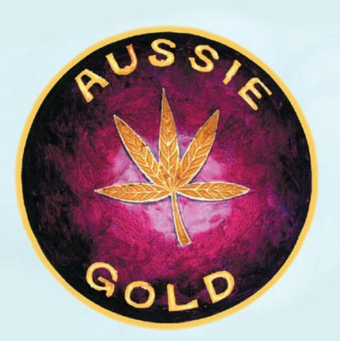 Brass Leaf Aussie Gold Mull Chop Bowl - Best Bongs And More