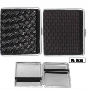 Black Designs Cigarette Hard Case Tobacco Storage - Best Bongs And More