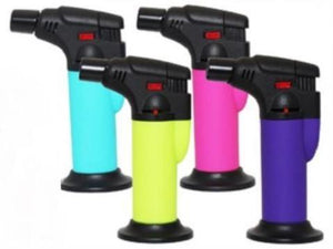 Fluro Coloured Stand Up Blow Torch Refillable Jet Lighter
