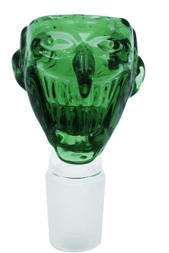 Stone Age Joker Green Glass Cone Piece 19mm