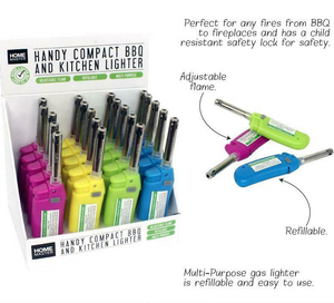 Coloured Compact BBQ Lighter Refillable