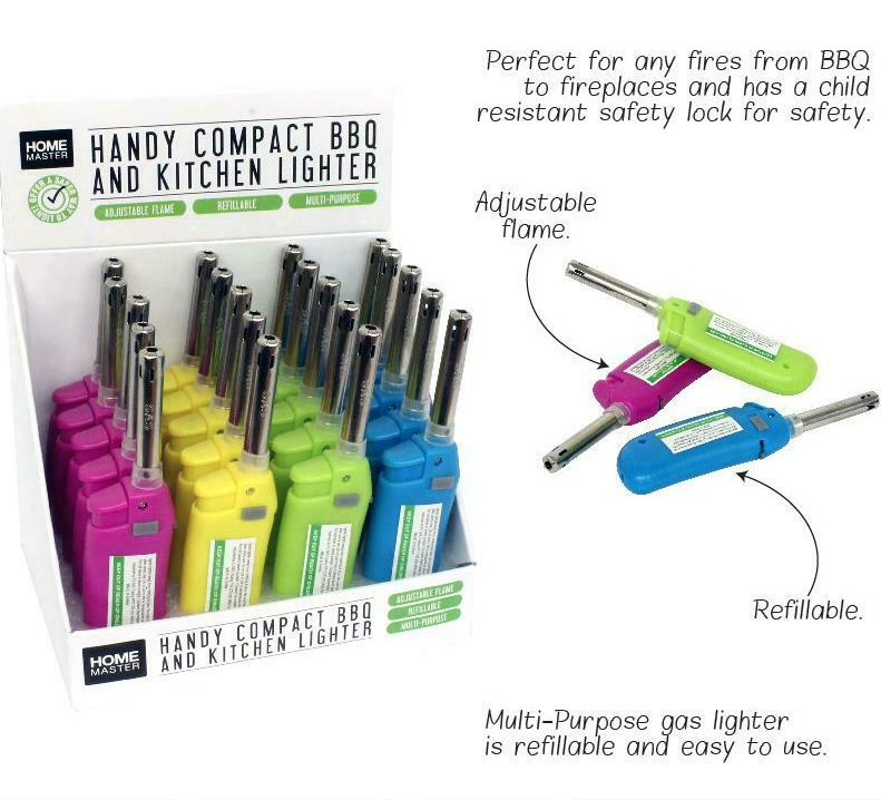 Coloured Compact BBQ Lighter Refillable - Best Bongs And More