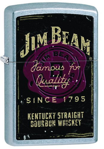 Genuine Zippo Jim Beam Windproof Refillable Lighter - Best Bongs And More