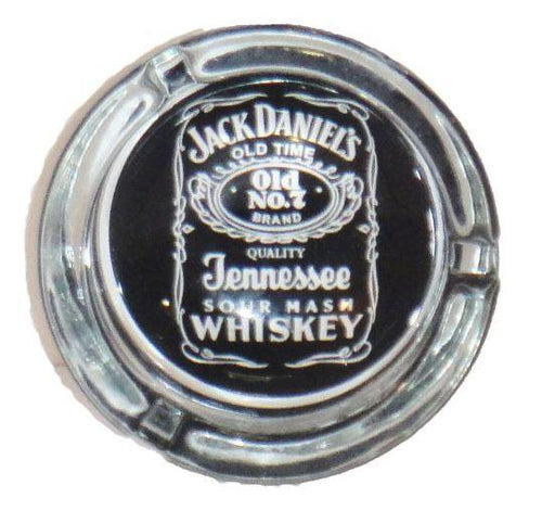Jack Daniels Design Round Glass Ashtray - Best Bongs And More