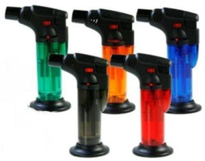 Coloured Stand Up Blow Torch Refillable Jet Lighter - Best Bongs And More