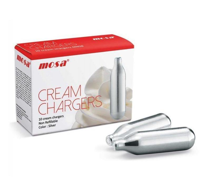 Mosa Cream Chargers 10-200 Pack - Best Bongs And More