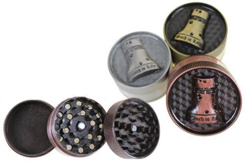 Ned Kelly Laser Cut 3 Layer Metal Grinder - Best Bongs And More