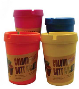 Nylon Coloured Butt Bucket Ashtrays 2 PACK