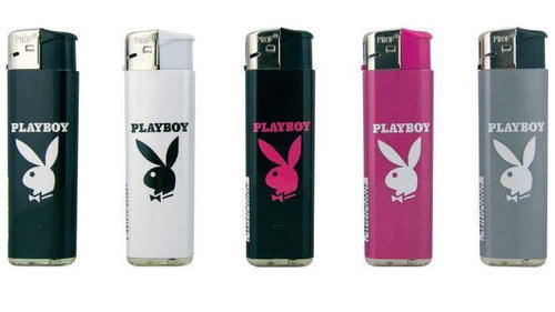 Playboy Design Windproof Refillable Lighters 5 Pack - Best Bongs And More