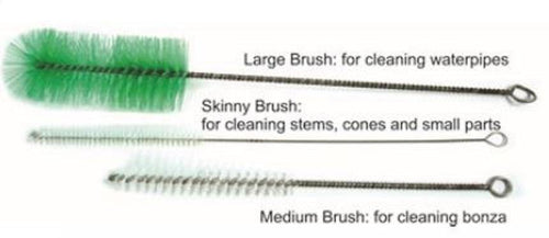 Bong & Pipe Cleaning Brush Set 3 Pack - Best Bongs And More