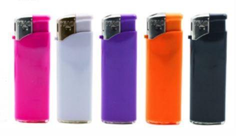Coloured Clicker Lighters Refillable 5 Pack - Best Bongs And More