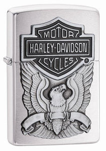 Genuine Zippo Harley Davidson Classic Eagle Windproof Refillable Lighter - Best Bongs And More