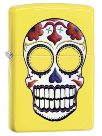 Genuine Zippo Day Of The Dead Sugar Skull Windproof Refillable Lighter - Best Bongs And More