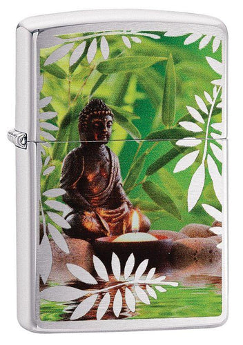 Genuine Zippo Resting Buddha Windproof Refillable Lighter - Best Bongs And More